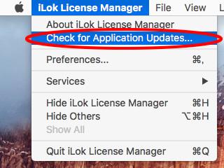 iLok License Managerのアップデートを確認